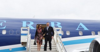 President Ilham Aliyev arrived in Turkey for a working visit