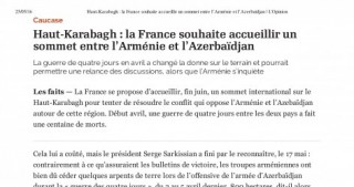 French newspaper L'Opinion highlights Armenian-Azerbaijani conflict