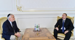 President Ilham Aliyev received Associate Dean of Simon Wiesenthal Centre