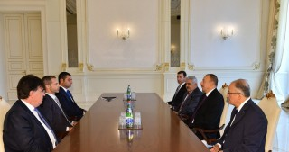 President Ilham Aliyev received UEFA President