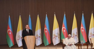 President Ilham Aliyev and Pope Francis addressed representatives of general public at Heydar Aliyev Center