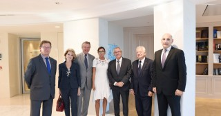 First lady Mehriban Aliyeva meets with delegation led by President of Association of Friends of Azerbaijan in France