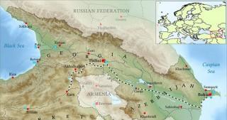 First map of Baku-Tbilisi-Kars railway project created