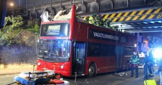 Bus hits bridge in Tottenham, injuring 26 people