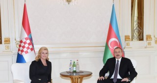 Presidents of Azerbaijan and Croatia met in private