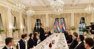 President Ilham Aliyev hosted official dinner reception in honor of Croatian President