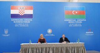 Baku hosted Azerbaijani-Croatian business forumAzerbaijani and Croatian presidents attended the forum