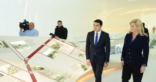 Croatian President visits Heydar Aliyev Center