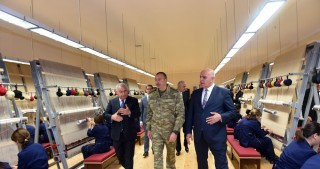President Ilham Aliyev attended opening of Fuzuli carpet factory
