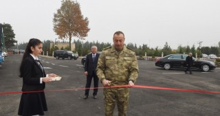 President Ilham Aliyev viewed new bus station complex in Horadiz
