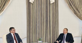 President Ilham Aliyev received CEV President