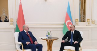 Azerbaijani President Ilham Aliyev and Belarus President Alexander Lukashenko held one-on-one meeting