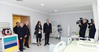 President Ilham Aliyev viewed newly renovated Zardab District Central Hospital