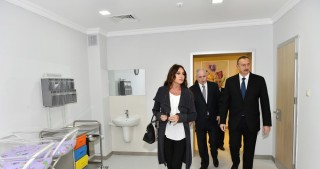 President Ilham Aliyev opens newly renovated Zardab District Central Hospital