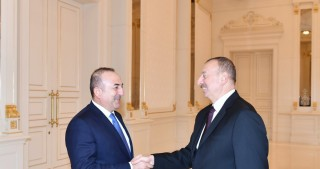 President Ilham Aliyev received Turkish Foreign Minister