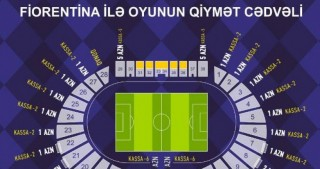 Tickets for Qarabag vs Fiorentina match on sale