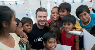 UNICEF Goodwill Ambassador David Beckham uses tattoos to show 'brutal reality' of child violence