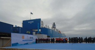 Kazakhstan launches Kuryk ferry complex on Trans Caspian route