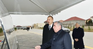 President Ilham Aliyev attended opening of newly reconstructed highways in Sabunchu and Surakhani districts