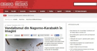 Armenian vandalism in Nagorno-Karabakh in spotlight of Romanian news agency