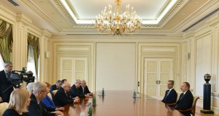 President Ilham Aliyev received co-chairs and members of the Board of Trustees of Nizami Ganjavi International Center