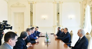 President Ilham Aliyev received delegation led by Russia's Astrakhan Region Governor