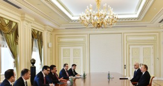 President Ilham Aliyev received delegation led by Minister of Economic Affairs of Turkey