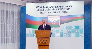 President Ilham Aliyev attended a ceremony dedicated to sport results of 2016