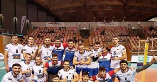 Azerbaijani volleyball players win opener at Novotel Cup 2017