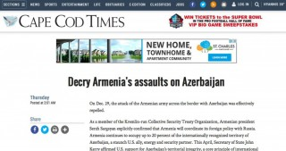 US Cape Cod Times: Decry Armenia's assaults on Azerbaijan