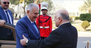 Turkish PM Yildirim arrives in Baghdad