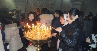 Azerbaijan`s Orthodox Christian community in Nij village celebrates Christmas