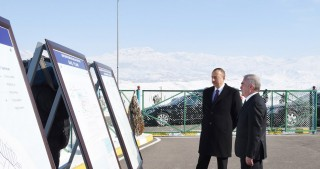President Ilham Aliyev attended ceremony to launch drinking water supply in Shahbuz city and surrounding villages
