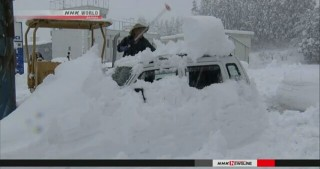 Heavy snow falls in Sea of Japan areas