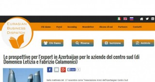 Eurasian Business Dispatch: Azerbaijan`s economy rapidly develops due to non-oil sector