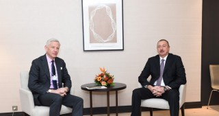President Ilham Aliyev met with global managing partner of McKinsey Dominic Barton in Davos