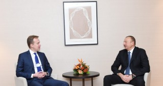 President Ilham Aliyev met with Norwegian FM in Davos