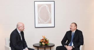 President Ilham Aliyev met with President of Europe Selling & Market Operations at Procter & Gamble in Davos