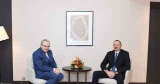 President Ilham Aliyev met with Chief Executive Officer of SUEZ in Davos