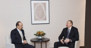 President Ilham Aliyev met with Saudi Arabia's Minister of Energy, Industry and Mineral Resources in Davos