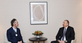 President Ilham Aliyev met with Chief Executive Officer and co-founder of Palantir Technologies in Davos