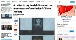"Jewish Journal: ""A Letter to my Jewish Sister on the Anniversary of Azerbaijan's Black January"""