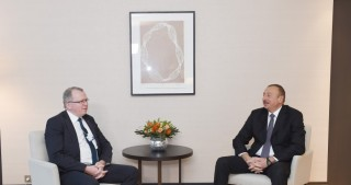 President Ilham Aliyev met with Statoil Chief Executive Officer