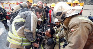 Many firefighters feared dead following collapse of Tehran Plasco Building