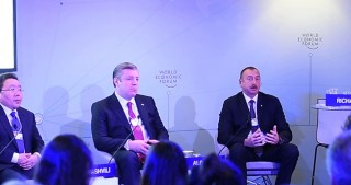 "President Ilham Aliyev attended interactive session ""The Silk Road Effect"" in Davos"