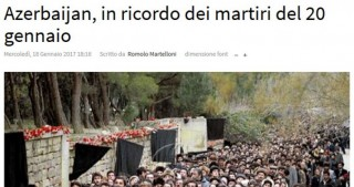 Italian journalist writes about Azerbaijan`s Black January tragedy