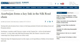 China Daily: Azerbaijan forms a key link in the Silk Road chain