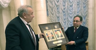 Rector of Baku State University presented with certificate of full member of Russian Academy of SciencesАкадемии наук