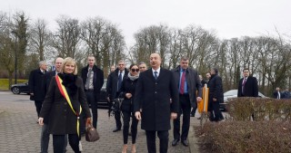 President Ilham Aliyev visited monument to outstanding Azerbaijani poetess Khurshidbanu Natavan in Waterloo, Belgium