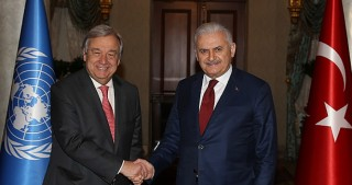 Turkish PM, UN chief meets in Istanbul